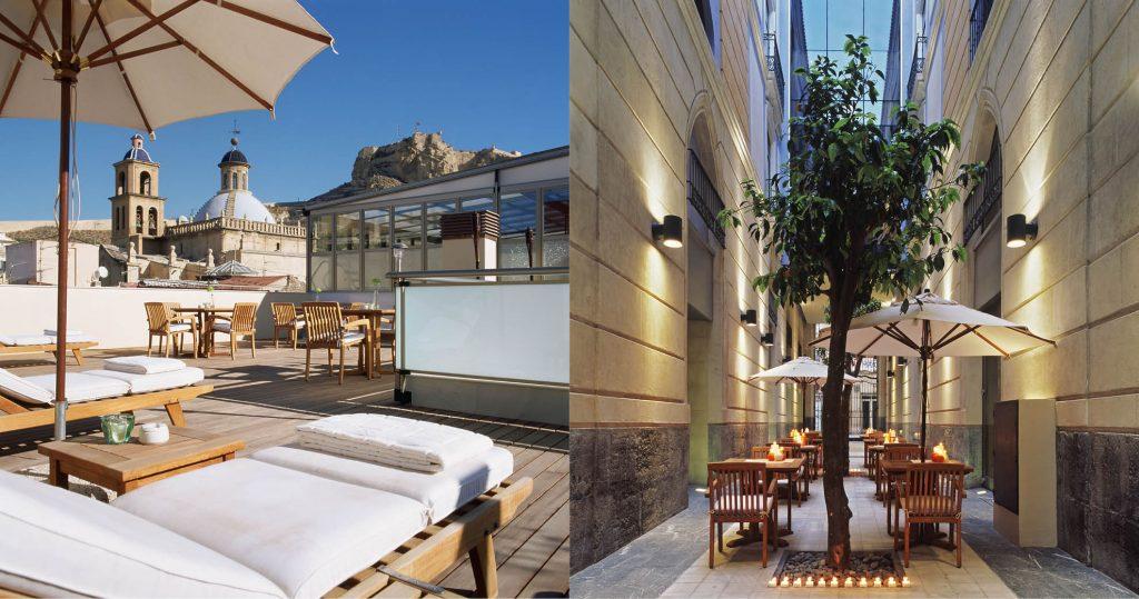 Hotel Hospes Amérigo Alicante con vistas al Castillo de Santa Barbara